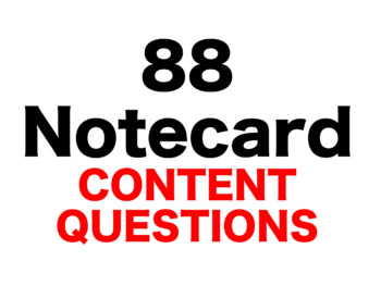 Cinder 88 Content Questions Whiteboard Game