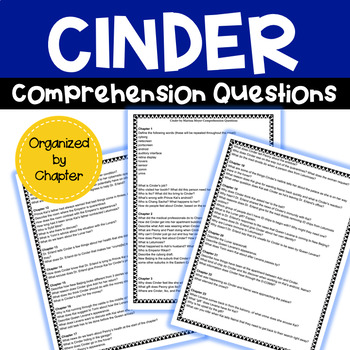Cinder Comprehension Questions by Chapter