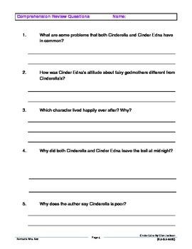 Cinder Edna Assessment Pack