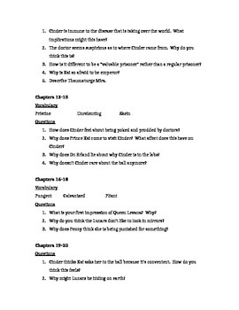 Cinder Study Guide
