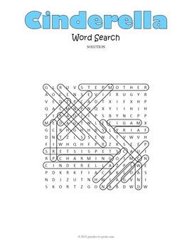 Cinderella Word Search Puzzle