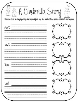 Cinderella: A Bundle of Worksheets to go with Any Cinderella Story