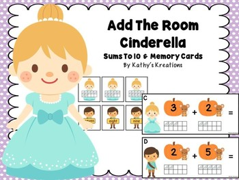 Cinderella Add The Room Sums To 10 & Memory Cards