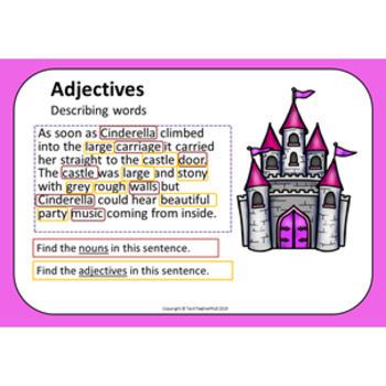 Grammar Pack Cinderella Adjective Review