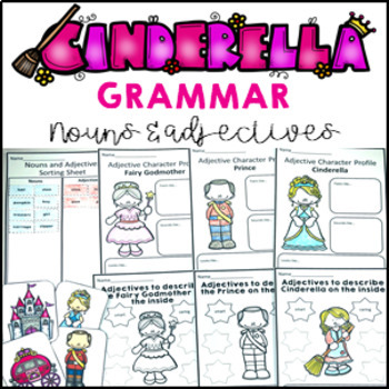 Grammar Pack Cinderella Adjectives and Noun Games, Activit