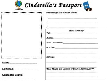 Cinderella Around the World Passport