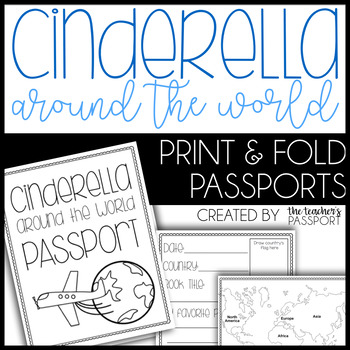Cinderella Around the World Passports (Print & Fold)
