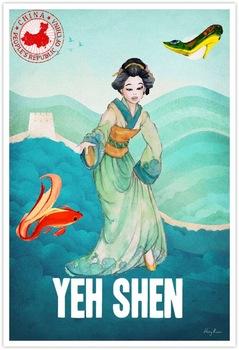 Cinderella Around the World Travel Poster Set