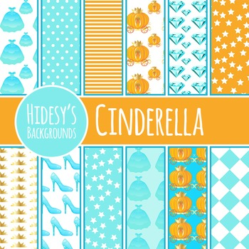 Cinderella Background / Digital Papers / Patterns Clip Art for Commercial Use