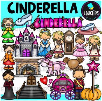 Cinderella Clip Art Bundle {Educlips Clipart}