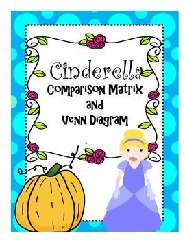 Cinderella Comparison Matrix and Venn Diagram Graphic Organizer