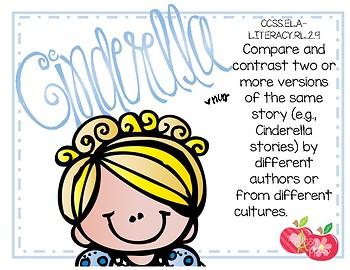 Cinderella Comparison Project - QR Codes - CCSS RL.2.9