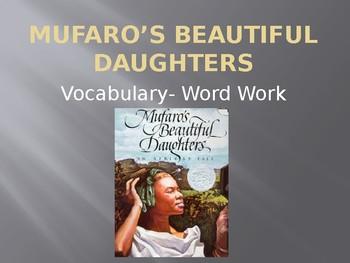 Cinderella Cuidebook Unit: Mufaro's Beautiful Daughters Vocabulary