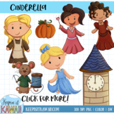 Cinderella Fairy Tale Clip Art Set
