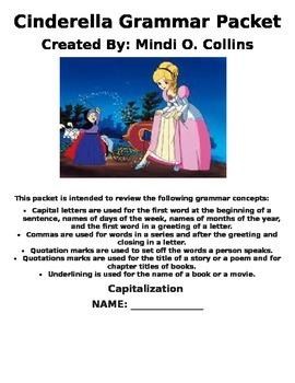 Cinderella Grammar Packet