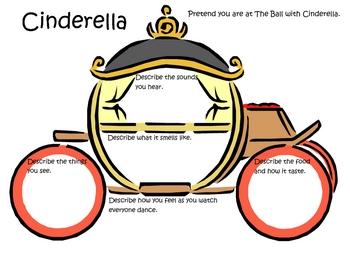 Cinderella Graphic Organizer for descriptive writing