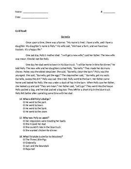 Cinderella Guidebook Unit: Mufaro's Beautiful Daughters assessment