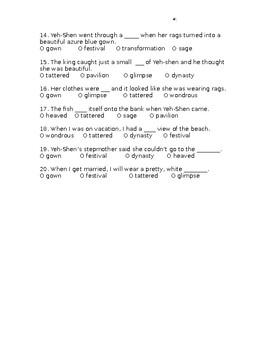 Louisiana Guidebook: Yeh-Shen assessment (Cinderella Guidebook Unit)