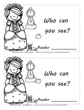 """Cinderella """"I Can See..."""" Emergent Reader Book - 12 pages"""