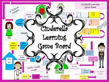 Cinderella Literacy Learning Game Board