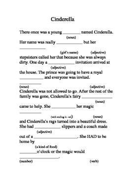 photograph regarding Dirty Mad Libs Printable referred to as Cinderella \