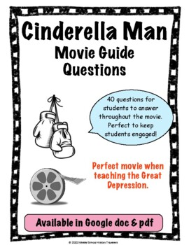 cinderella man movie guide questions by middle school history travelers rh teacherspayteachers com