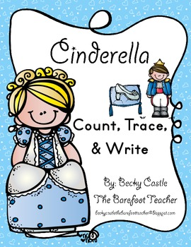 Cinderella Number Count, Trace, & Write (2 Sheets)