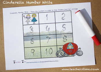 Cinderella Number Write