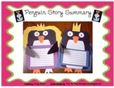 Cinderella Penguin Story Summary Craftivity (Use pattern w
