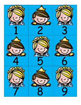 Cinderella Pocket Chart Numbers  1-100....AB Pattern