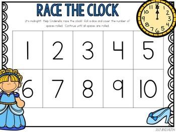 Cinderella Preschool Math Centers