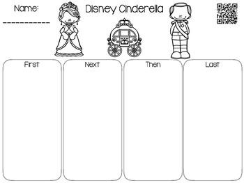 Cinderella QR Code Comprehension Sheets