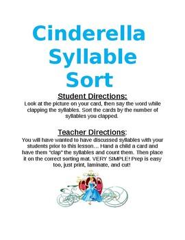 Cinderella Syllable Sort