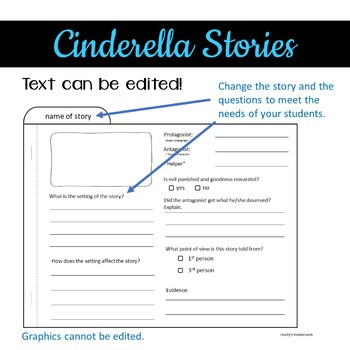 Cinderella Tab Book - Comparing Different Versions of a Popular Fairy Tale