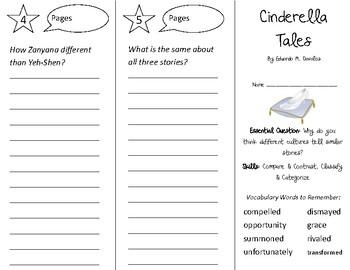 Cinderella Tales Trifold - Open Court 2nd Grade Unit 6 Lesson 4