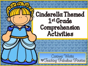 Cinderella Themed Comprehension Activities for First Grade