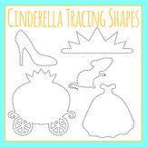 Cinderella Tracing Shapes Clip Art