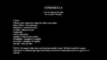 Cinderella Ukulele PowerPoint