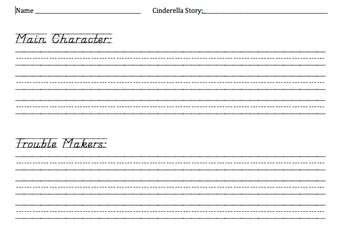 Cinderella Unit Printables - CCSS Aligned