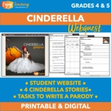 Cinderella Writing - Webquest with Four Different Cinderella Versions