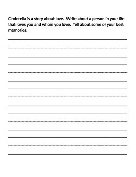 Cinderella Writing Journal