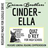 """Cinderella"" by The Brothers Grimm - Quiz & Key"