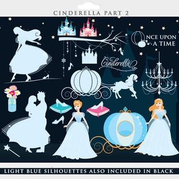Cinderella clip art - princess clipart glass slipper pumpkin carriage prince