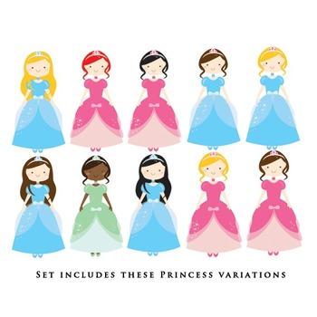 Cinderella clipart - princesses clipart, castle, glass slipper, pumpkin carriage