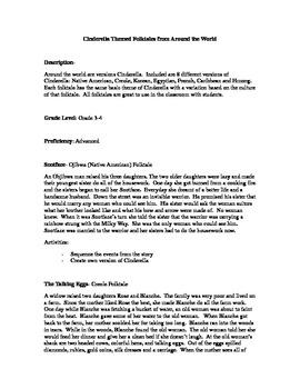 Cinderella folktales around the world