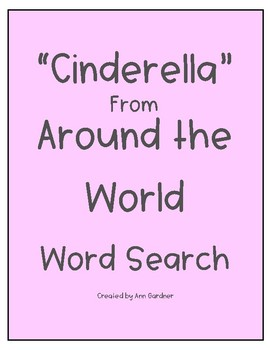 """""""Cinderella"""" from Around the World - Word Search"""