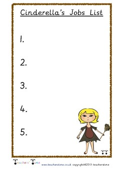 Cinderella's Jobs List