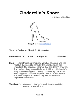 Cinderella's Shoes - Small Group Reader's Theater
