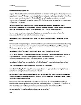 Cinderella story- Spanish (vocab practice)