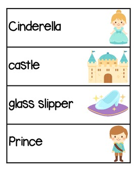 Cinderella themed ABC Order Pocket Chart Game and assessment